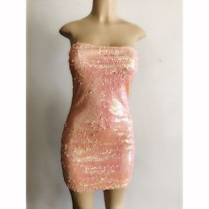 Dresses & Skirts - Peach Sequins Dress